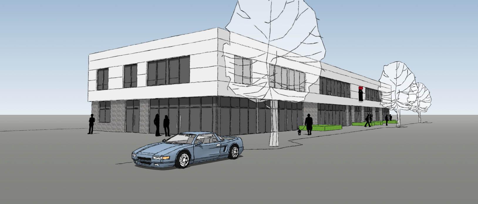 Baustart AutoShop Pro - Baldauf Architekten